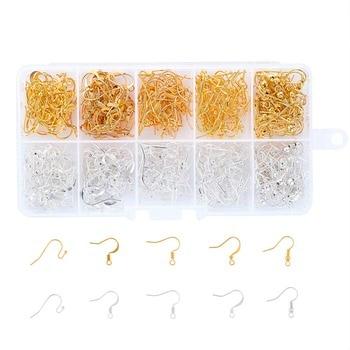 1 مربع خمسة أنماط الأذن سلك هوكس أقراط الذهبي والفضة المرأة القرط مكونات diy النتائج مجوهرات مجوهرات الجميلة F60