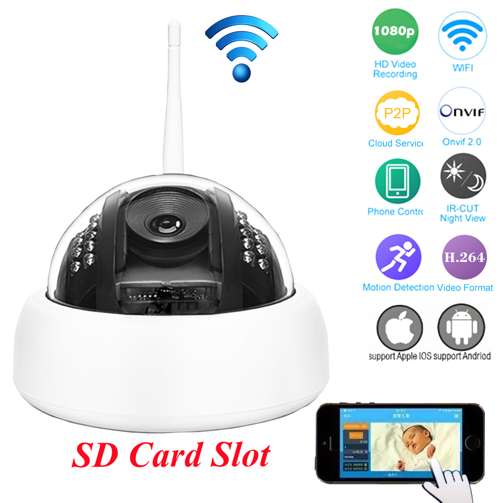 ФОТО OWLCAT D27TW D23TW Mini WIFI Dome IP Camera HISILICON HD Mega 1080P 960P H264 Onvif Night Vision SD Card Security CCTV Camera