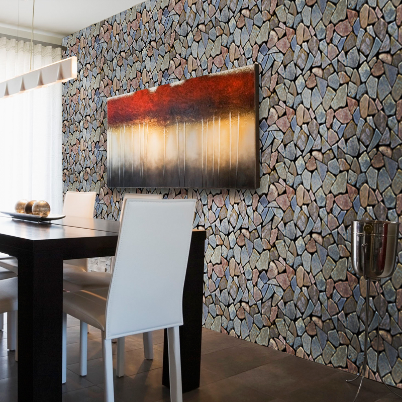 3D Brick Stone PVC Wallpaper Living Room TV Sofa Home Decor Dining Room Self-Adhesive Waterproof Wall Sticker 3D Papel De Parede