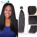 Burmese Virgin Hair Light Yaki Rosa Queen Hair Products 4 Bundles Yaki Straight Human Hair Weave Bundles Unprocessed Human Hair