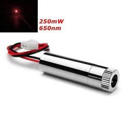 Diodo 200-250 mw 650nm do gerador do laser do ponto vermelho do módulo focalizável novo do laser