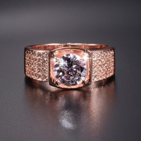 Promotion!!! Real Solid 100% 925 Silver & Rose gold Rings Wedding Jewelry for Men Luxury 3ct Simulated Diamond Ring US Size 8 13