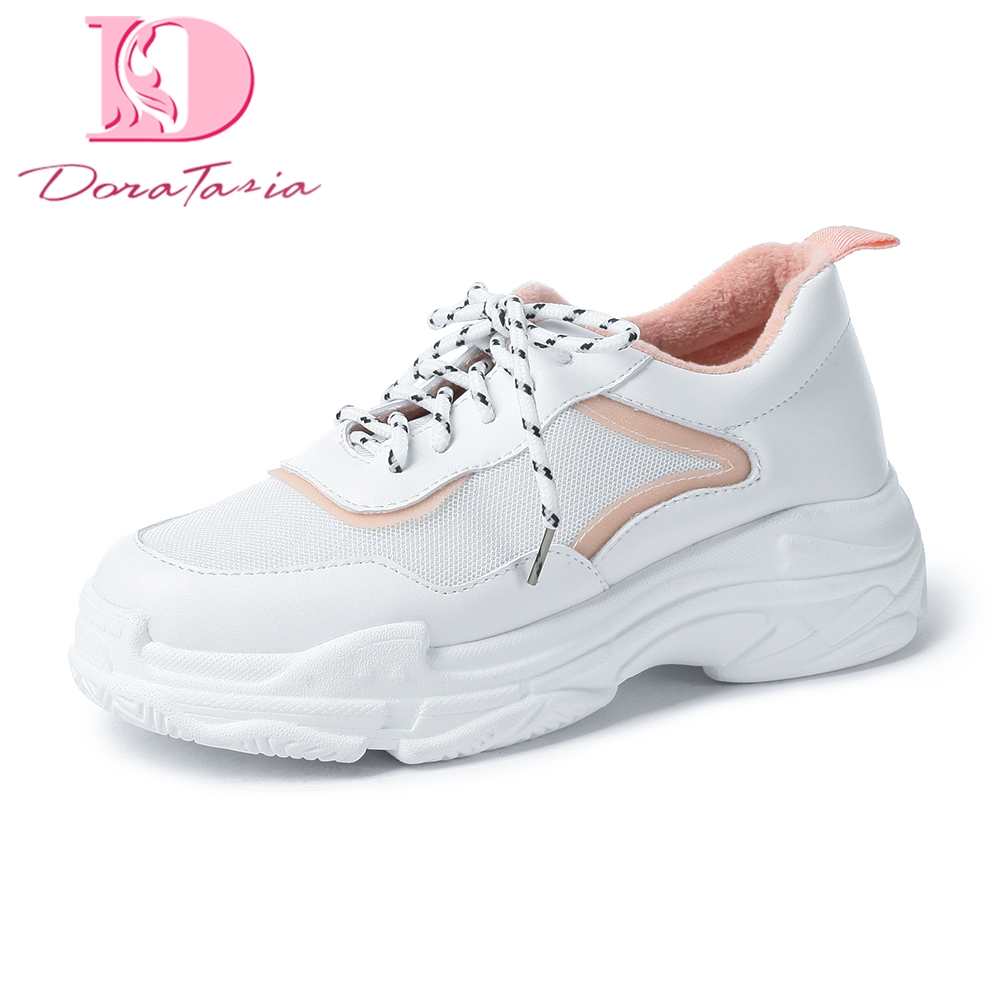 DoraTasia Brand New Fashion Wholesale Plus Size 29-46 Lace Up Platform sneakers Vulcanize