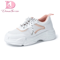 DoraTasia Brand New Fashion Wholesale Plus Size 29 46 Lace Up Platform sneakers Vulcanize Shoes Woman Casual Shoes Women shoe