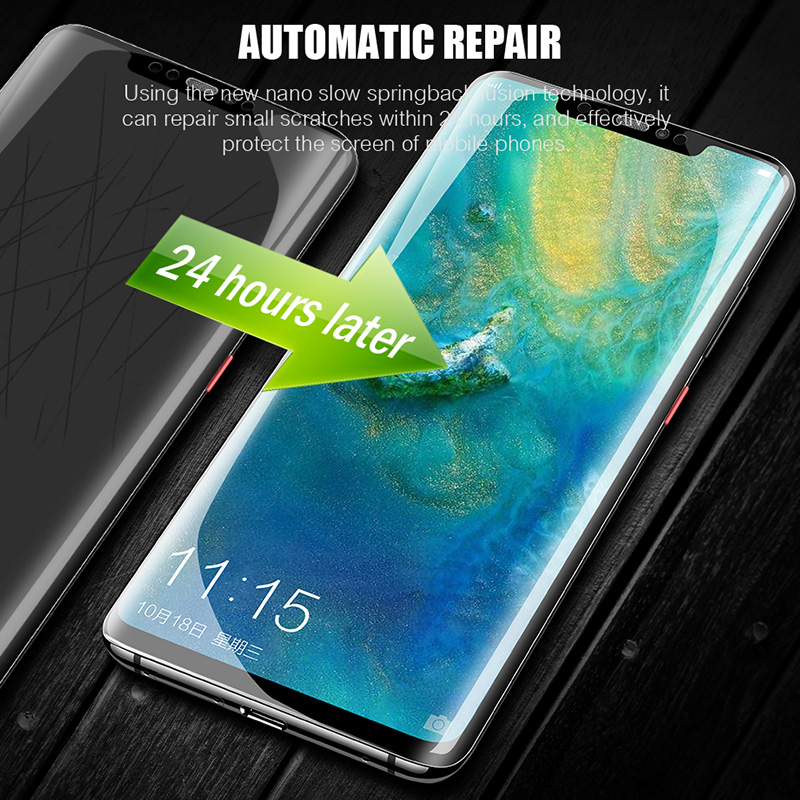 9D Full Cover Soft Hydrogel Film For Huawei P30 P20 Pro Mate 20 Pro Lite Screen Protector Film Honor 8X 10 Lite 9 V20 Not Glass in Phone Screen Protectors from Cellphones Telecommunications