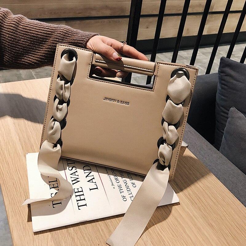 2019 brand designer Vintage messenger bags PU leather women ribbons shoulder bags cute woman rivet ladies handbag