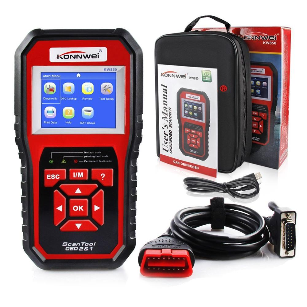 2019 Best OBD 2 Auto scanner OBD2 Scanner KONNWEI KW850 Full ODB2 Scanner Supports Multi languages ODB 2 Auto Diagnostic Scanner-in Code Readers & Scan Tools from Automobiles & Motorcycles