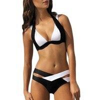 Sexy Straped Mulheres de Biquíni Verão Maiô Natação Swimwear Push Up Maiô Tops E Bottoms Separado Tamanho S-3XL