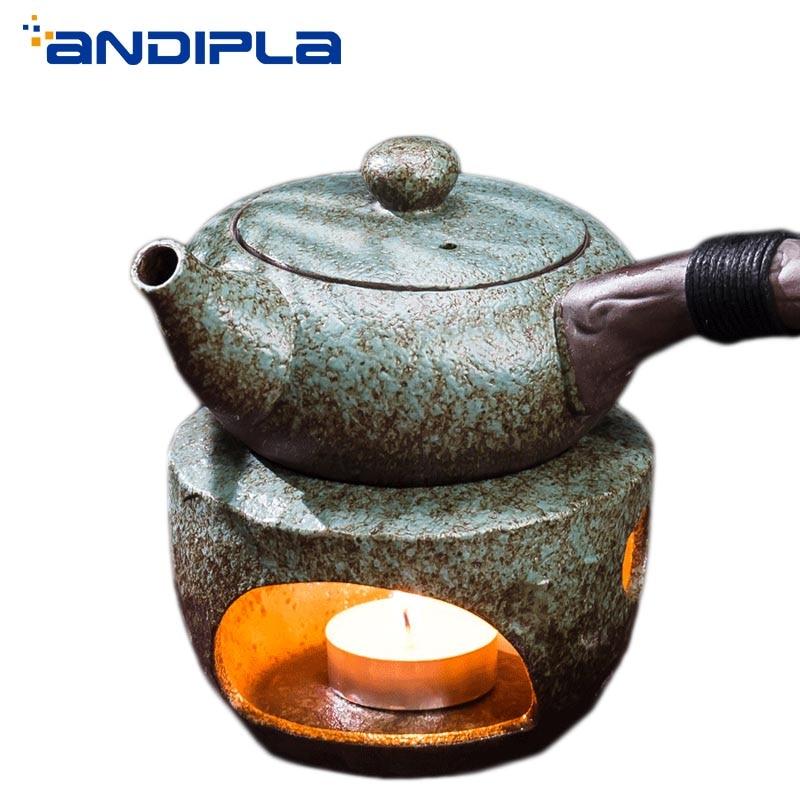 Japanese Style Teapot Stove Warm Base Ceramic Candle