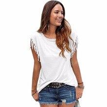 Ksenia Blouses Shirts 2017 Fashion Loose Women Tops Casual Blouses Short shirt Tassel Cotton Solid mujer blusa blusas
