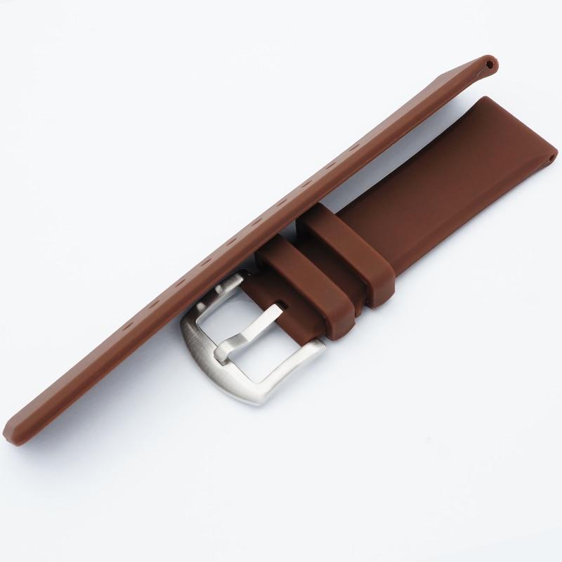 MAIKES 22 mm mehka udobna silikonska ura trak moški visokokakovostni - Dodatki za ure - Fotografija 5