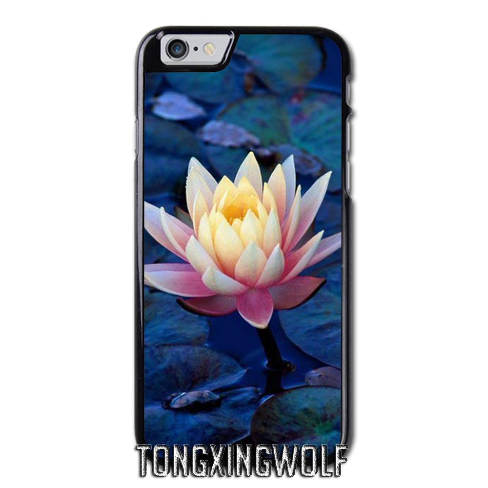 White Lotus Flower Cover Case For Iphone 4 4s 5 5c 5s Se 6 6s 7 8