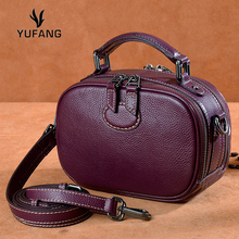 YUFANG Genuine Cow Leather Women Shoulder Bag High Quality Brand Luxury Cowskin Messenger Bag For Ladies Fashion Small Daily Bag цена в Москве и Питере