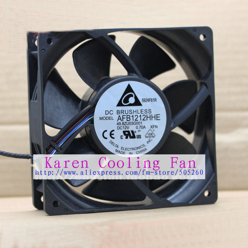 New original Delta AFB1212HHE XFN 12cm 12V 0.70A 120*120*38MM 12CM 4 Lines Projector cooling fan new original bp31 00052a b6025l12d1 three wire projector fan