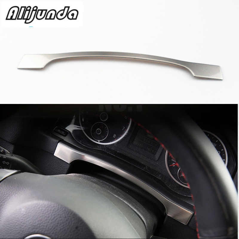 Trang trí dây thép không gỉ trang trí dán cường lực với bảng dụng cụ Xe Volkswagen tiguan2010-2017