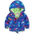 Nueva primavera otoño niños chaqueta de la capa del bebé animal impreso chaqueta de los muchachos outwear niños cazadora bebé ropa de los muchachos