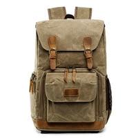 Batik Canvas Waterproof Photography Bag Outdoor Wear resistant Large Photo Camera Backpack Men for Fujifilm Nikon Canon Sony