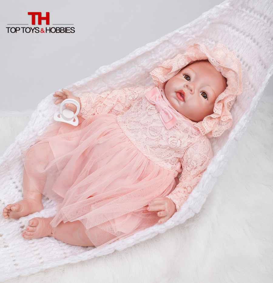 22 Inch Real Looking Dolls Baby Girl Silicone Reborn Dolls Bebe Born Princess Adora Doll Brinquedos Bonecas for Children Gift new style girl dolls full silicone reborn dolls with beautiful dress adora dolls bebe reborn de silicone menica