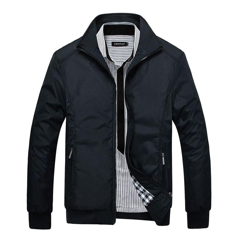 2017 nouveau style Veste Manteau Hommes Porter Automne Vestes Vêtements Robe Haute qualité Printemps Veste hommes col mandarin M-7XL