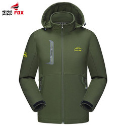 King fox new outwear jacket men waterproof resistant coat fleece softshell windbreaker jaqueta masculina with detachable.jpg 250x250