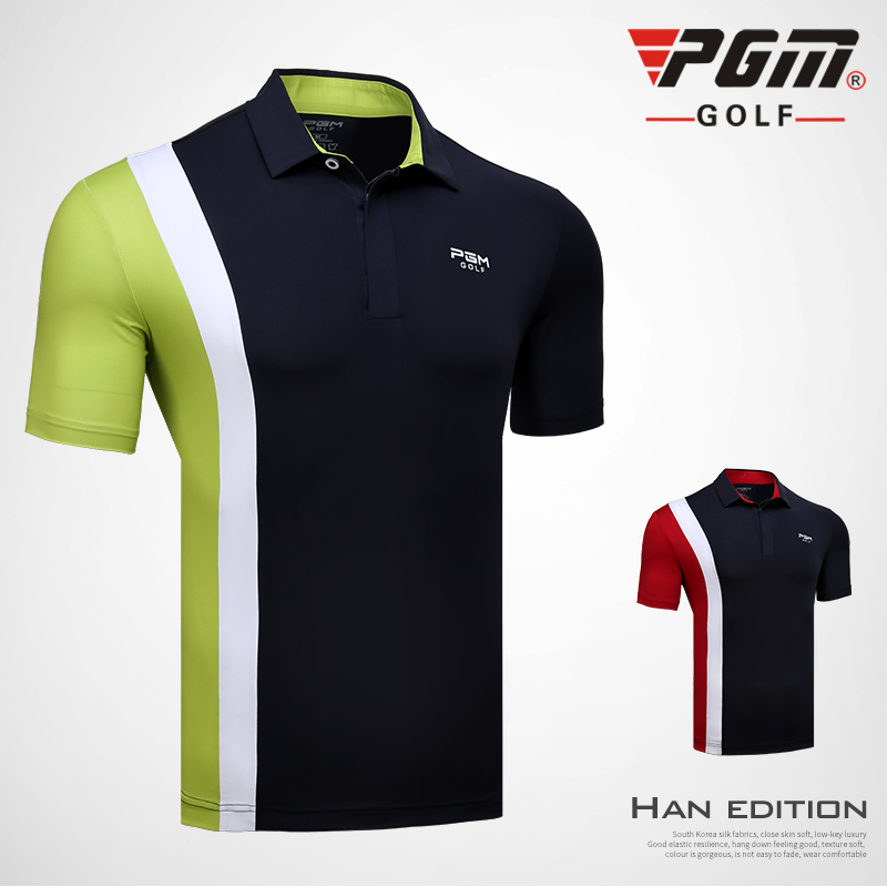 2018 New PGM Golf Mens Sportswear Breathable Quick-drying Short-sleeved T-shirt Summer High elastic golf polo shirts