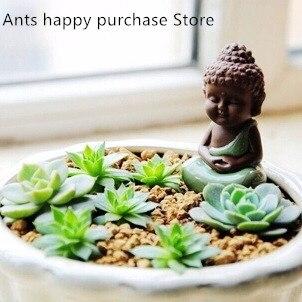 US $9.6 |Keramik handwerk kreative hause dekoration wohnzimmer feng shui  ornamente nette little Buddha Zen wie töpfe eingerichtet in Keramik  handwerk ...
