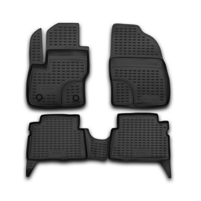 Mats in the salon For FORD Focus C-MAX 2003->, 4 PCs (polyurethane) mats in the salon for ford escape 2007 3 pcs polyurethane