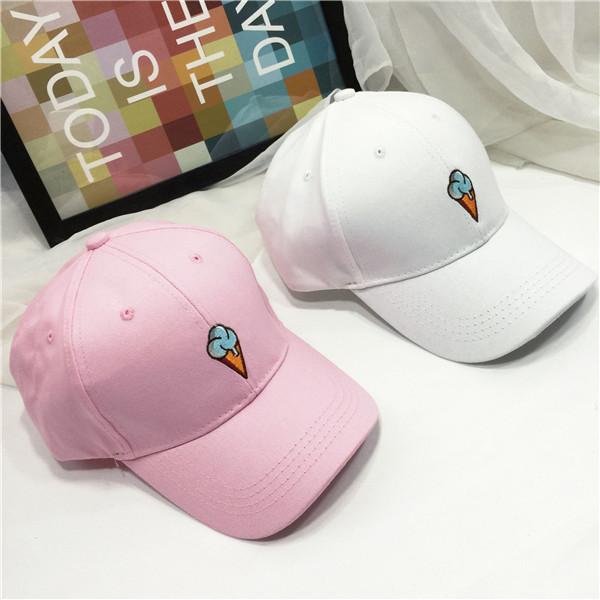 20116 Spring Summer Fashion Baseball Caps Korea Ulzzang Harajuku Embroidery Cartoon Hats For Men And Women Hip Hop Snapback Cap