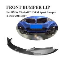 Auto front Bumper Lip Splitter Aprons for BMW 3 Series GT F34 M Sport Bumper 4 Door 2014 2017 Carbon Fiber