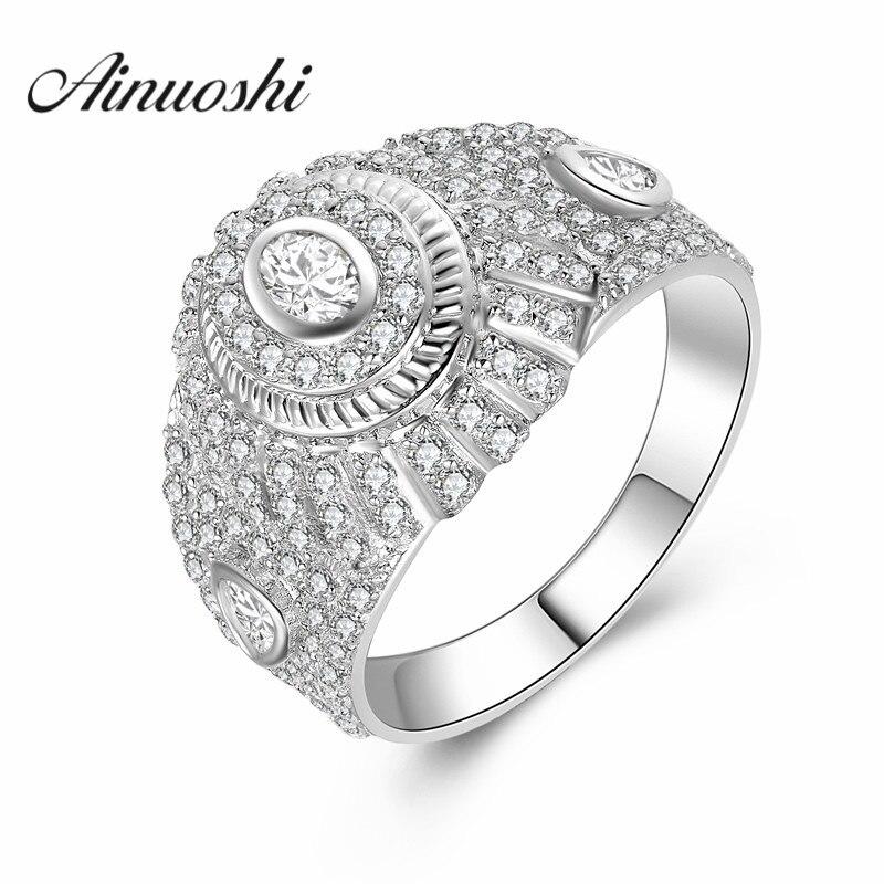 AINUOSHI Cool Design 925 solide en argent Sterling hommes bague Style Vintage bijoux de fiançailles 925 Anillo Hombre anneaux de fête de mariage