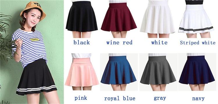 2021 Winter and Summer Style Brand Women Skirt Elastic Faldas Ladies Midi Skirts Sexy Girl Mini Short Skirts Saia Feminina