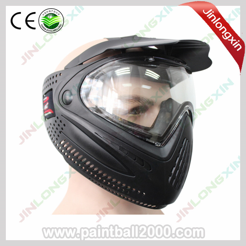 SPUNKY Airsoft Mask Paintball Mask Black Gold with Dye I4 Thermal Lens