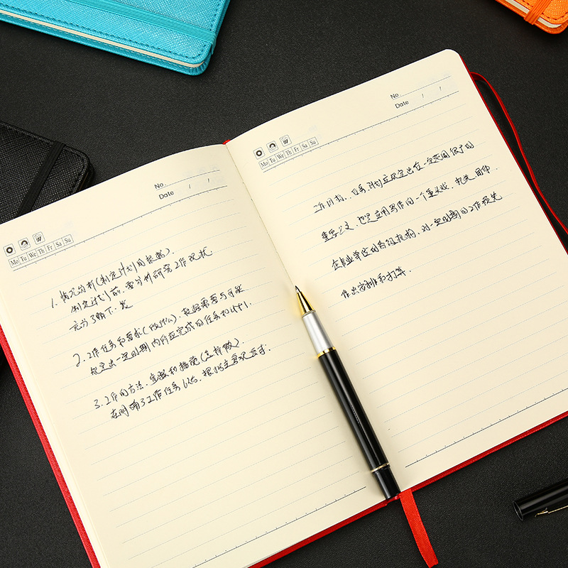 2019 creative leather notebook portable planner notebook personal