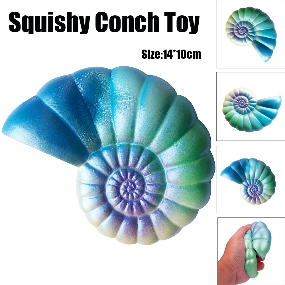 Funny Novelty toy Jumbo Colorful Conch Cartoon Squishy Slow Rising Squeeze Toy Gift Fun Kids Toy Gift