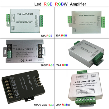 Aluminum DC5V-24V Led Controller 12A/24A/30A 3CH 4CH Led RGB RGBW Amplifier for 5050 3528 Led Strip Tape Power Repeater Console dc12v 24v rgb rgbw rgbww rgb cct led amplifier 12a 15a 24a 30a rgbwc led strip tape power repeater controller