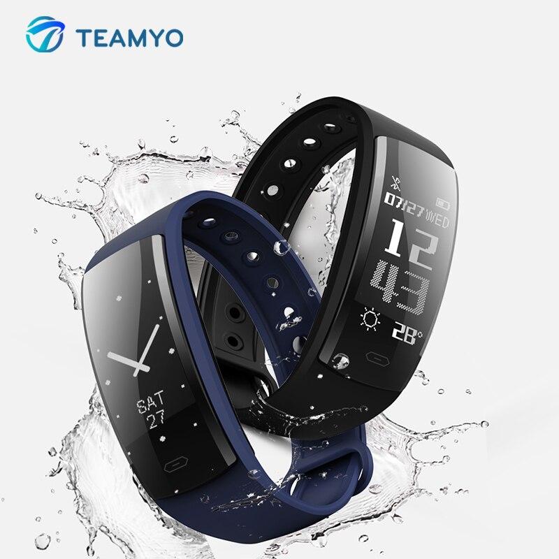 Teamyo Fitness bracelet cicret Smart Blood Pressure Measurement Pedometer Smart wristband Sport Band activity tracker Monitor