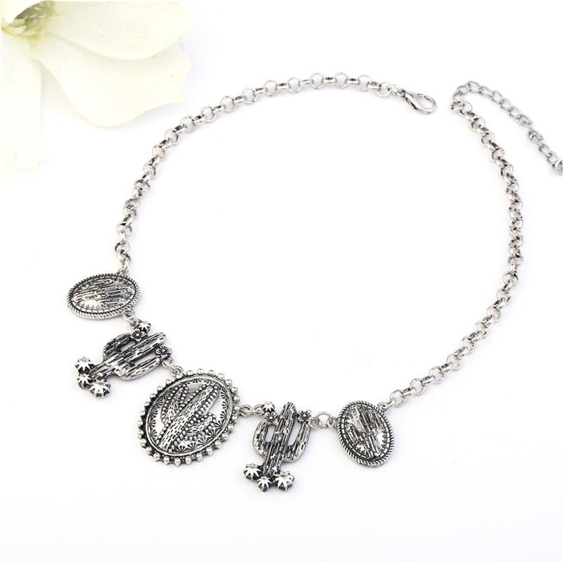 Винтидж обшивка тибетски сребърен - Модни бижута - Снимка 4