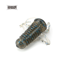 Kingdom 10pcs/bag soft baits fishing lure  40mm 1.45g cricket soft lure bass bait five colors available model 3801