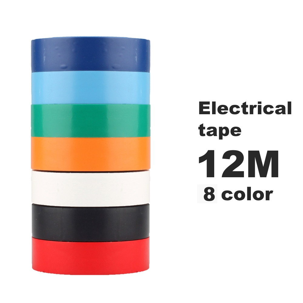 Electrical Tape 12 Meters 7 Color Export All Over The World Electrical Insulating Tape Waterproof Tape