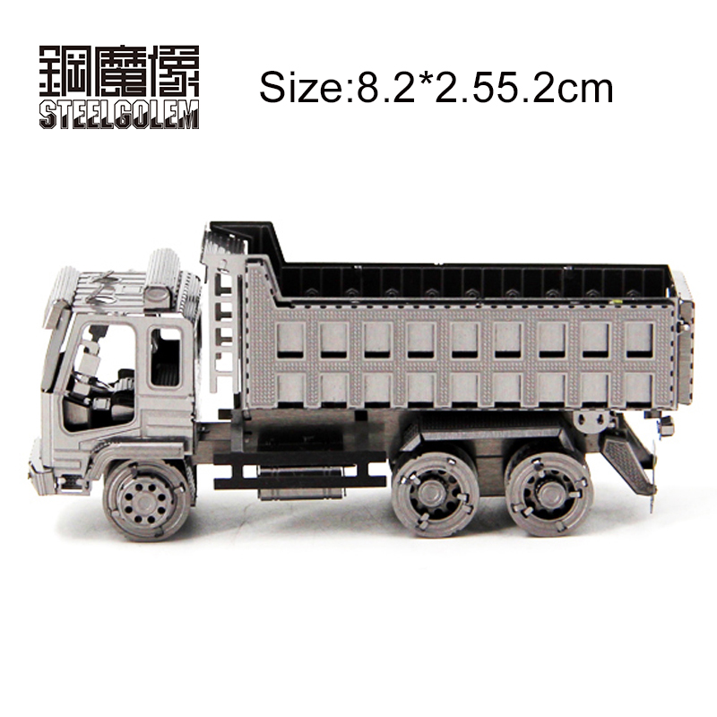 Dump Truck DIY 3D Metal Model Puzzle Jigsaw Laser Cutting Best Gifts For Children Kids Collection Educational Decoration Toys t90a tank model silver color 3d diy laser cutting model educational diy toys jigsaw puzzle best birthday gifts