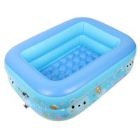 Summer Outdoor Baby Cartoon Swimming Pool Inflatable Square Family Children Thickened Playing Water Pool Kids Holiday Gifts