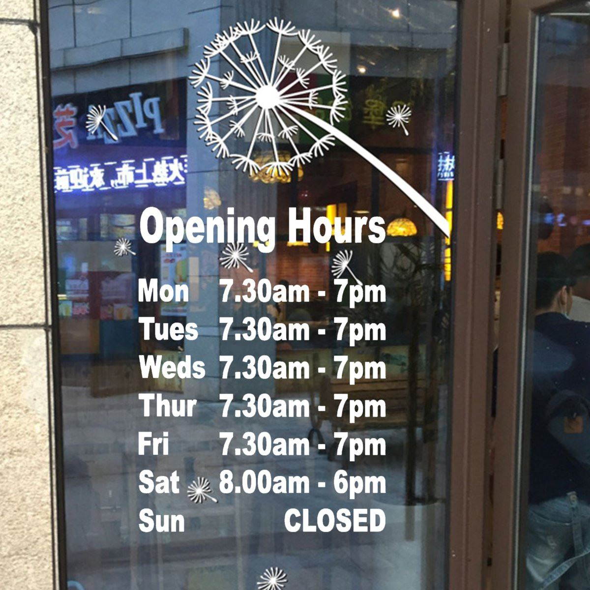 Business Hours Sign - Online Shopping