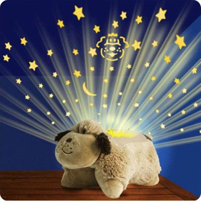 Luminous Unicorn Cuddle Pet Pillows with Starry Sky Night Light Glow