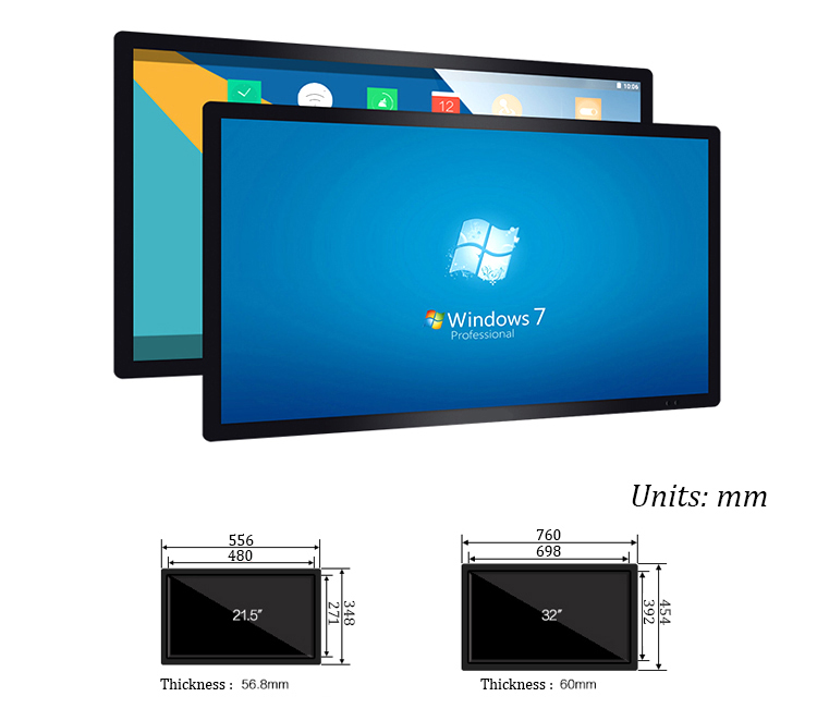 Capacitive Screen 49inch Touch All In One Computer PC 40mm Ultrathin Desktop Wholesale Pc Destop Computer