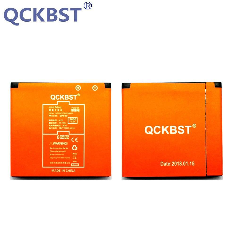 QCKBST 2800 mAh EP500 Li-ion Téléphone Batterie pour Sony Ericsson Xperia ST17I ST15I SK17I WT18I X8 U5I E15i wt18i wt19i U8 téléphone