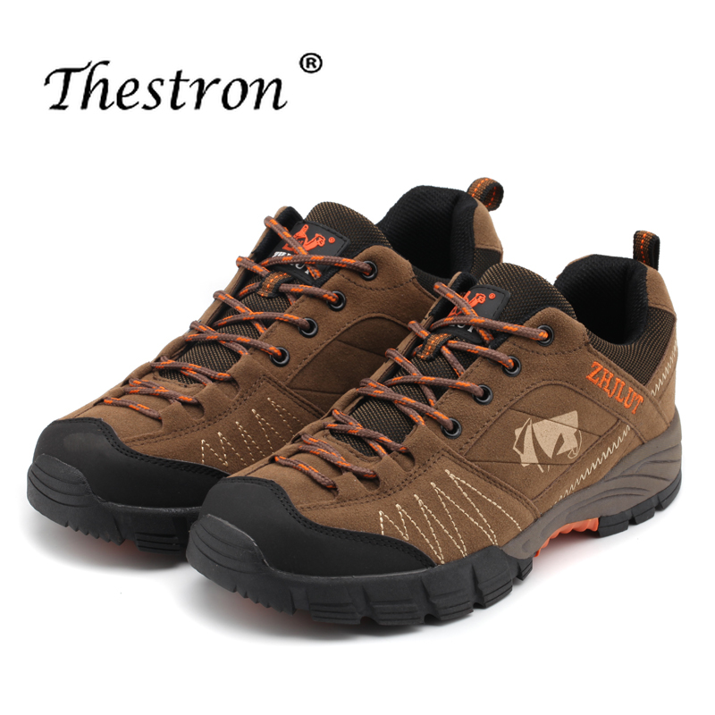 Hiking Leather Shoes Men 2019 Spring Outdoor Mountain Climbing Waterproof Sneakers Rubber Trekking Boot for Man Rock Scrambling in Hiking Shoes from Sports Entertainment