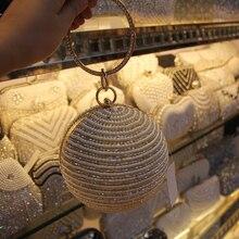 2017 Round Ball Perle Perlen Handtaschen Frauen Handtaschen Luxus Voller Perlen Kleine Tasche Hochzeit Taschen CrossBody Handtaschen
