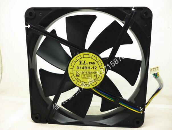 Wholesale: D14BH-12 12V 0.70A  (GP) 140*140*25mm 14cm 4 Pin Power Supply Fan