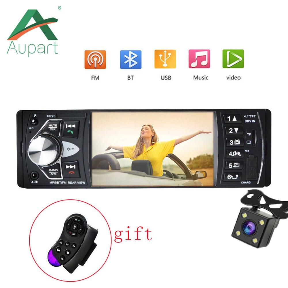 1din Aupart Auto Audio Stereo Multimedia Player Unterstützung Kamera Hd 4 Inch Bildschirm Autoradio Bluetooth Mp3 Mp4 Mp5 Sd Usb Tf