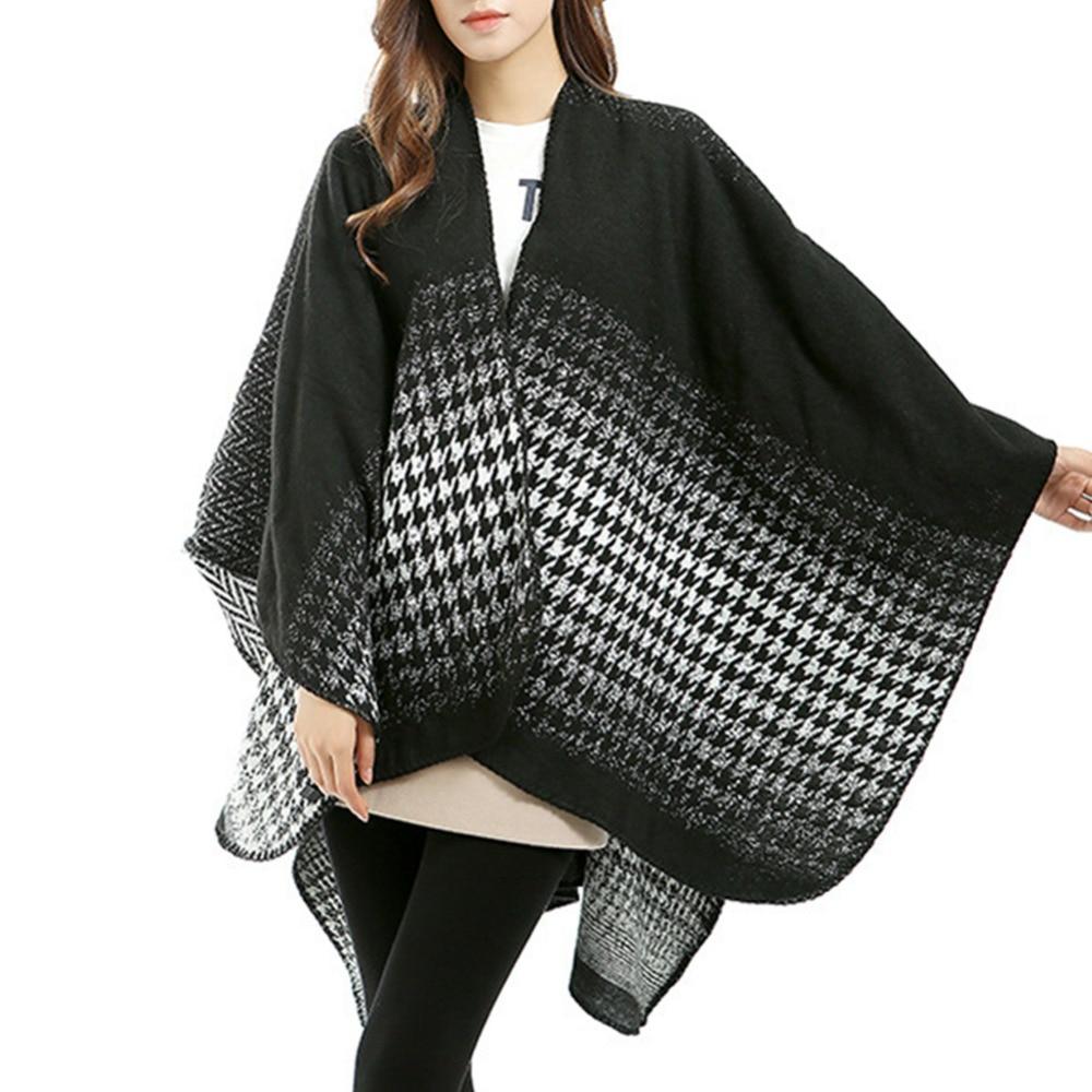 Châles et Foulards pour les femmes 2017 de mode long automne hiver plaid  couverture élégante femme chaud écharpe wraps double face cape foulards 1050a816b89